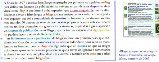 Extracto do libro de galego de Xerais