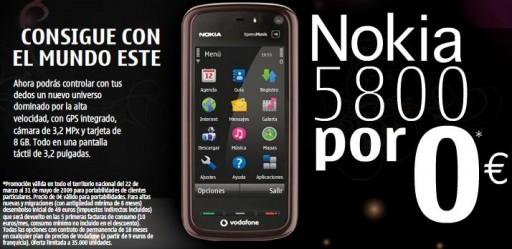 promoción Nokia 5800