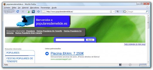 Web do PP melidense, secuestrada