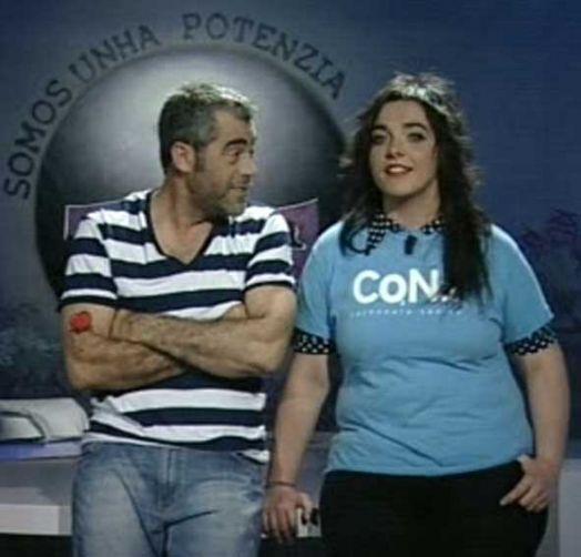 Lucía Aldao coa camiseta do Carbonato Cálcico de Nicetrip