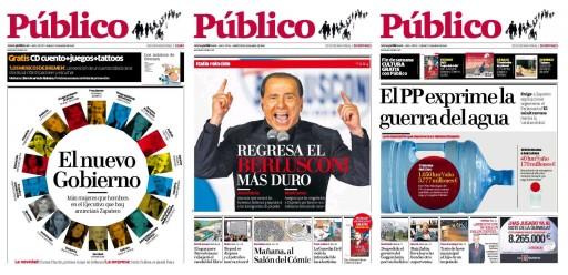 portadas de Público dos últimos días