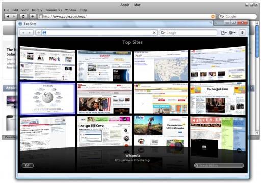 Impresionante evolución de interface entre Safari 3 e 4 para Windows