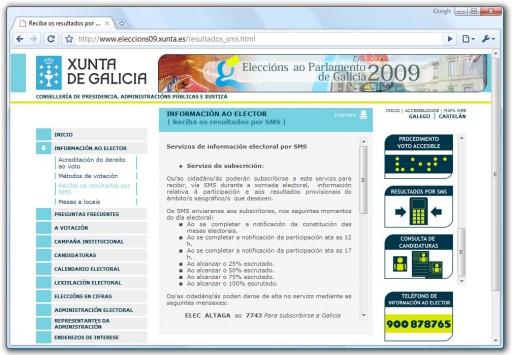 web das eleccións autonómicas