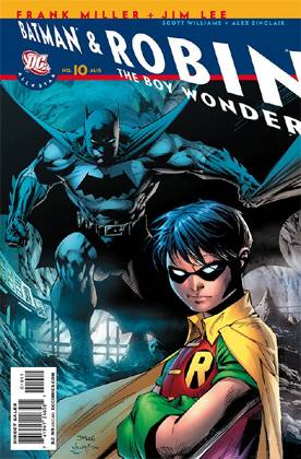 portada do problemático All Star Batman & Robin número 10