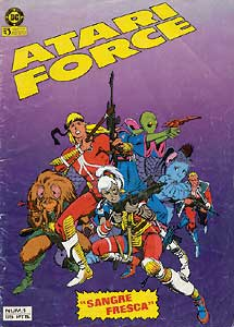 Portada do número 1 de Atari Force