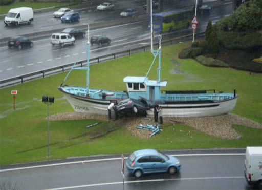Accidente no Barco de Chanquete