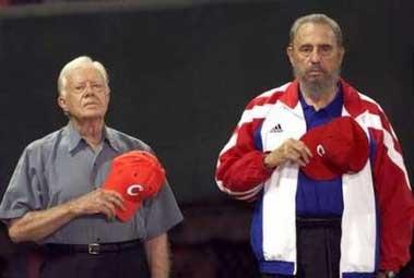 Fidel Castro con Jimmy Carter en 2002