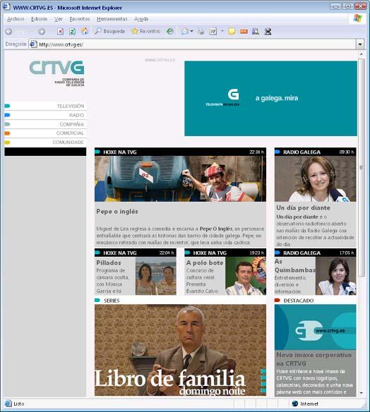 Nova web da CRTVG