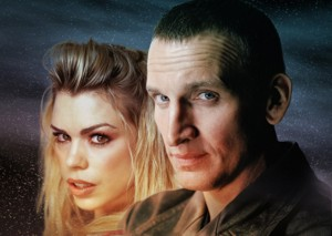 Christopher Eccleston y Billie Piper en Dr. Who