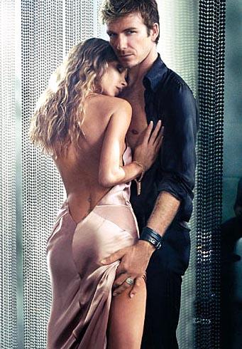Anuncio do perfume Intimacy Beckham