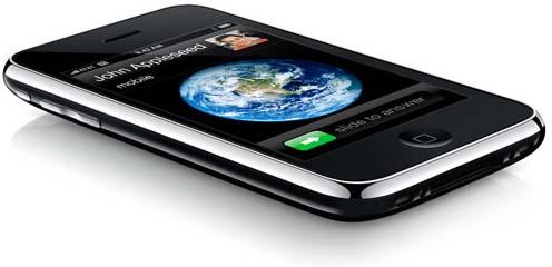 iPhone 3G deitado