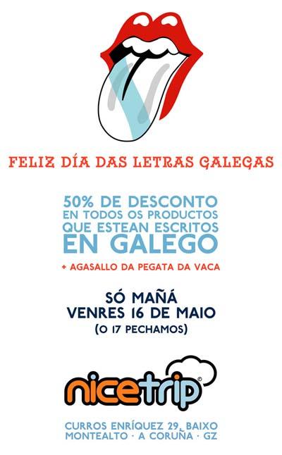 Oferta de Nicetrip para as letras galegas