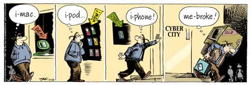 iMac+iPod+iPhone=MeBroke