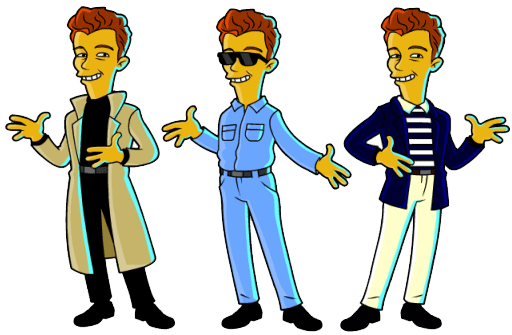 Rick Astley simpsonizado
