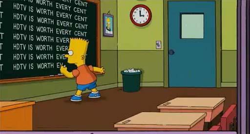 Bart Simpson e a HDTV