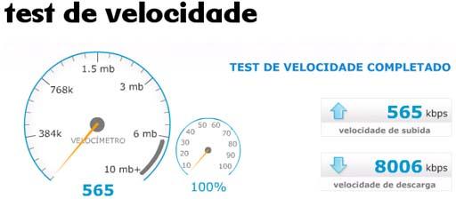 test de velocidade