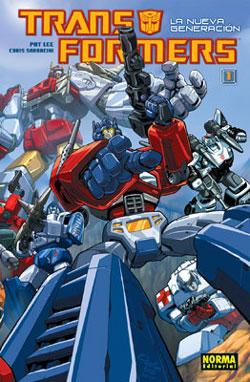 Portada do nº 1 de Transformers La Nueva Generación