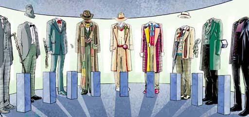Museo de traxes dun personaxe televisivo moi misterioso
