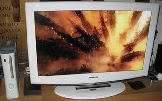 Consola Xbox 360 utilizada coma reprodutor multimedia