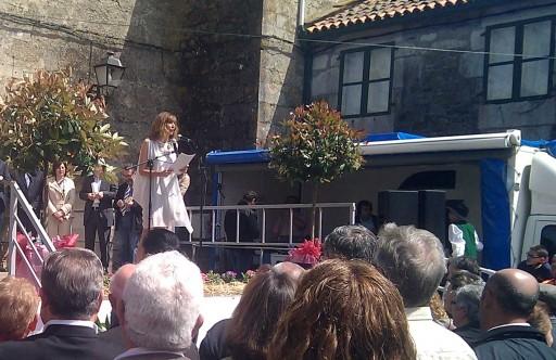 Marta Landín conduciu o acto da Festa do Melindre