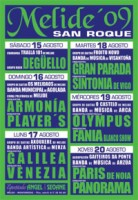 cartel das festas do San Roque 2009