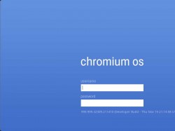 login no chromium os
