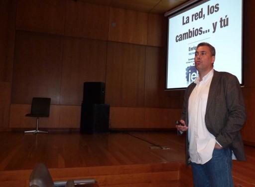 Enrique Dans no Xuventude Galicia Net 2012