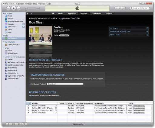 O podcast de Bos Días en iTunes