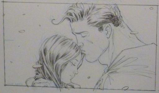 lápis de All Star Superman
