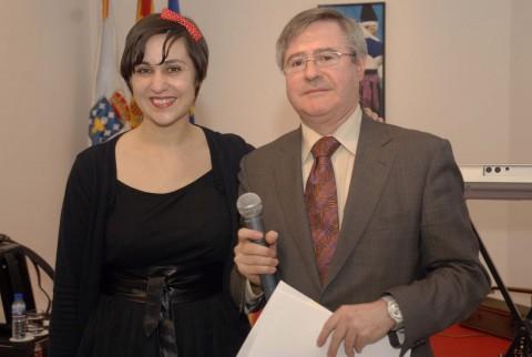 Rebeca Ponte con Ramón Jiménez