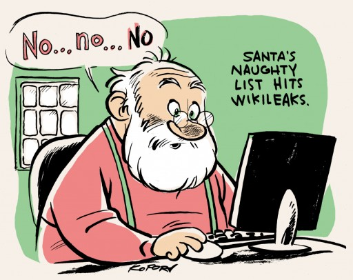 Santa's Naughty List hits WikiLeaks
