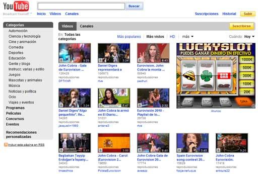 Vídeos máis vistos en YouTube