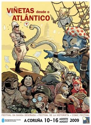 Cartel de Viñetas desde o Atlántico 2009
