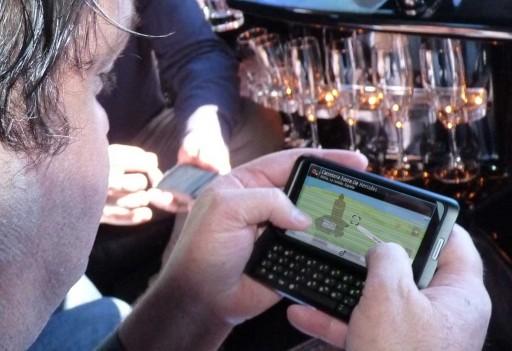 Xosé Ramón Nóvoa co Nokia E7