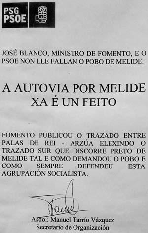 Cartel do PSdeG-PSOE