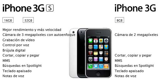 Comparación entre ambos iPhone 3G