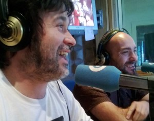 Marcos e Federico pasando un bo momento en A Tarde