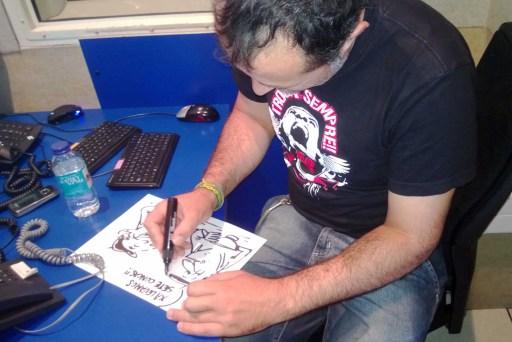 Davila debuxando