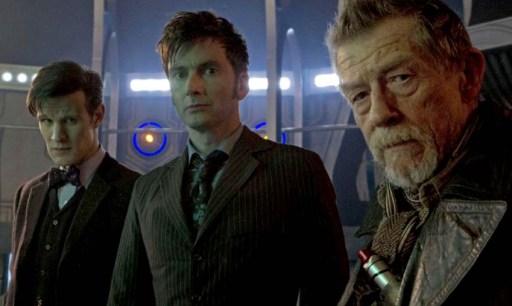 Matt Smith, David Tennant e John Hart
