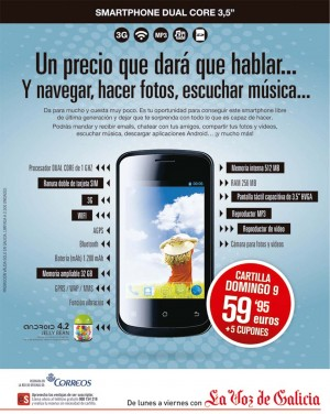 anuncio do smartphone de La Voz