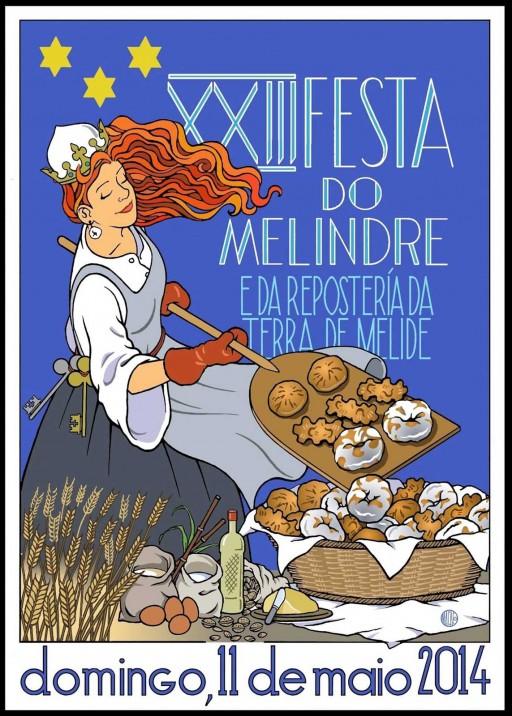 Cartel da 23ª edición da Festa do Melindre