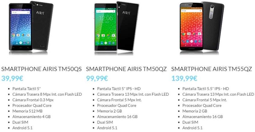 smartphones na promoción