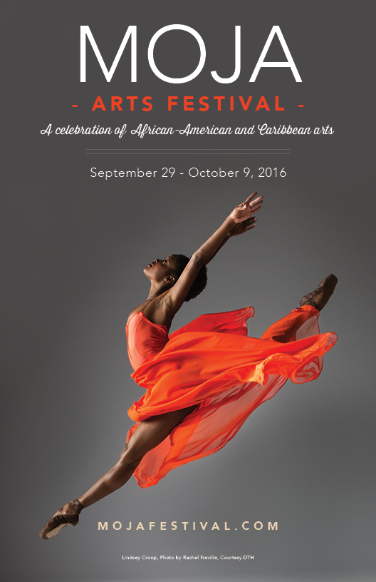 Ad design / poster for the 2016 MOJA festival in Charleston, SC
