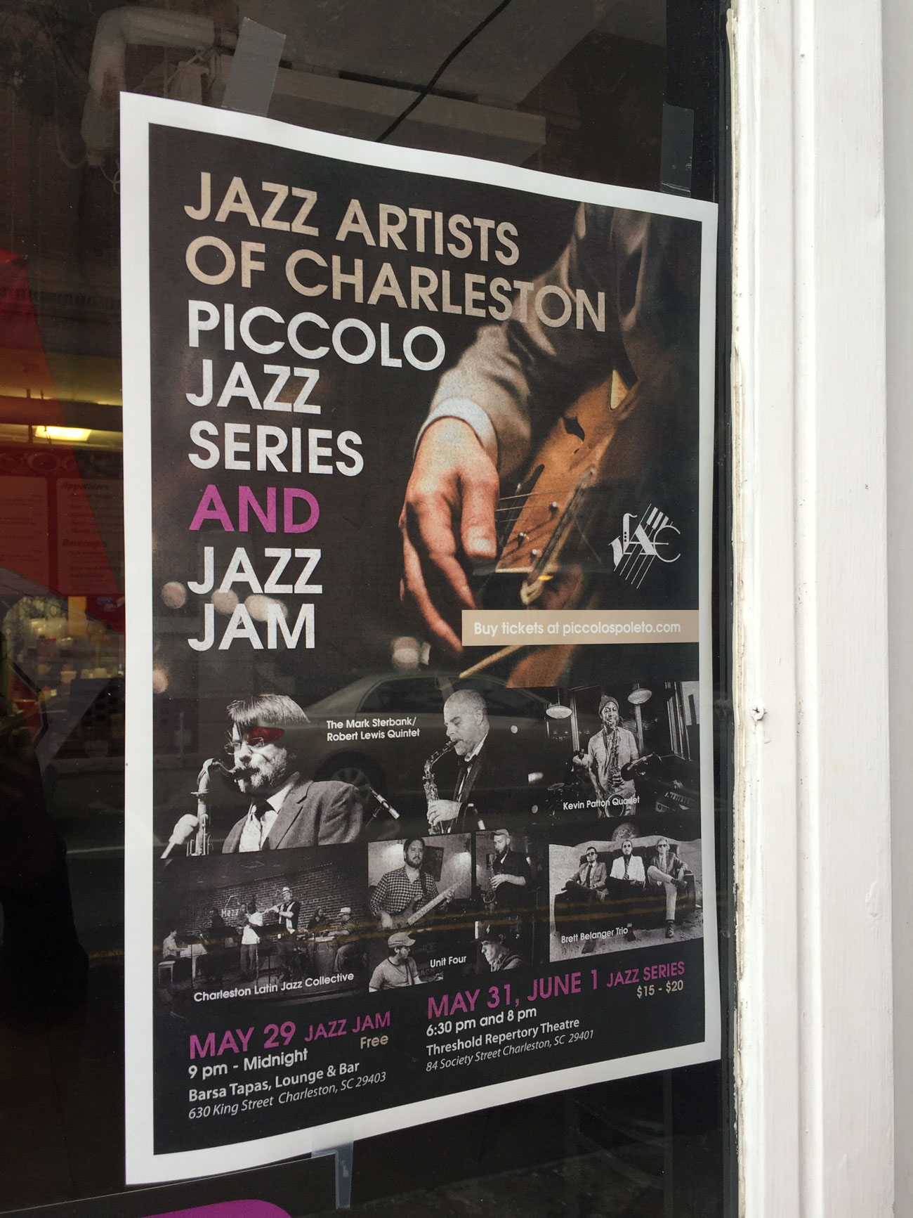 poster design for JAC, for its Piccolo Spoleto Jazz Series