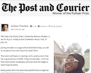 Music Hall to host Holy City Poetry Slam Post and Courier, February 2015