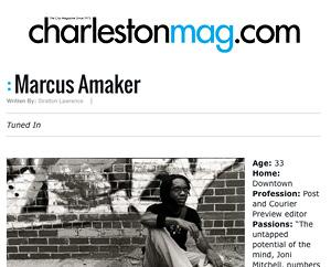 Feature: Marcus Amaker Charleston Magazine, Nov. 2009