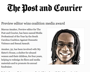 Preview editor wins media coalition award Post and Courier, Feb. 2009