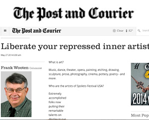 Liberate your repressed inner artist Post and Courier, May 2014