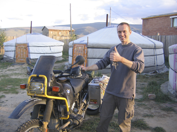 Yiri from the Czech Republic has a similar motorcycle, so we had plenty to discuss and tools to share.