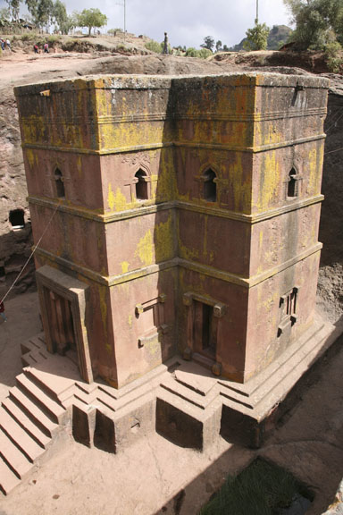 St. George's Church, carved out of stone, Lalibela